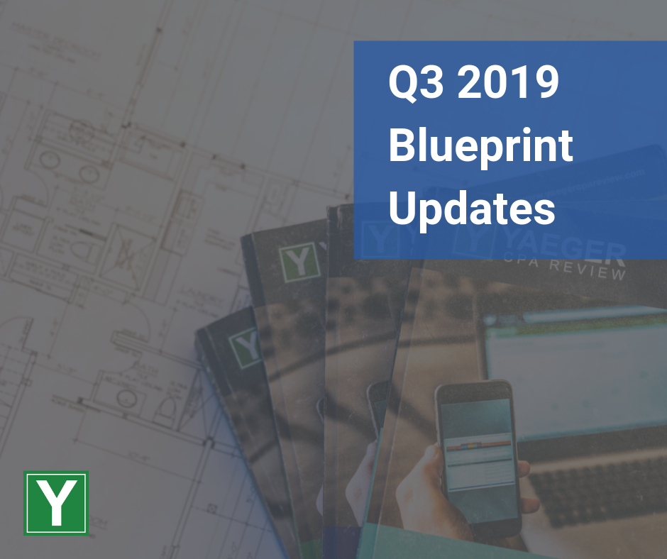 Q3 2019 AICPA Blueprints Released